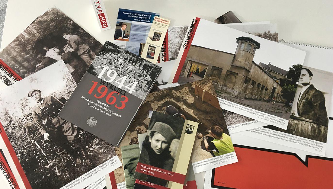 Zestaw zawiera materiały nt. członków podziemia niepodległościowego (fot. tvp.info)