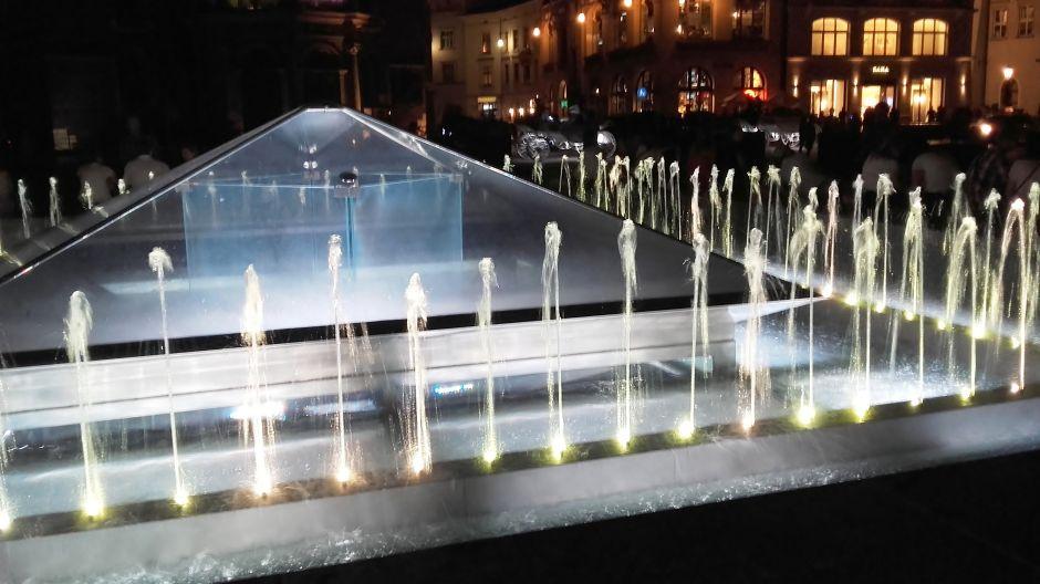 Kraków nocą – fontanna (fot. Kazimierz Martyniak)