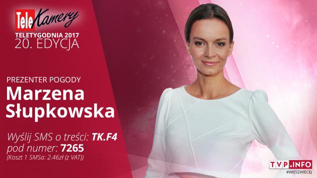 Marzena Słupkowska jest nominowana w kategorii prezenter pogody (graf. tvp.info)
