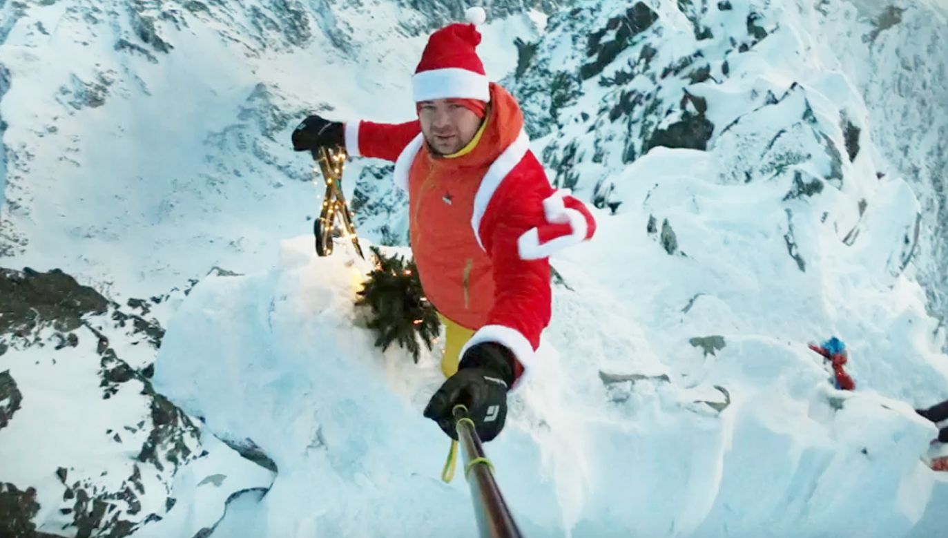 Mikołaj na Gerlachu (fot. yt/Arkadiusz Ceremuga)