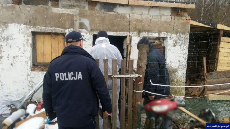 Efekt działań służb zaskoczył jednego z gospodarzy w gminie Mrągowo (fot. KWP Olsztyn)