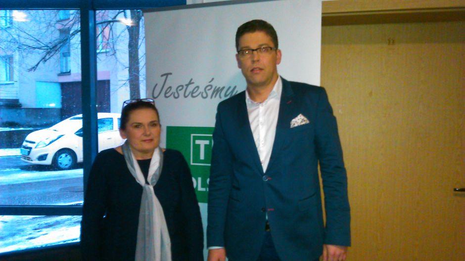 Joanna Szkutnik, położna i Jacek Zachariasz, z-ca dyrektora Szpitala Miejskiego w Olsztynie.