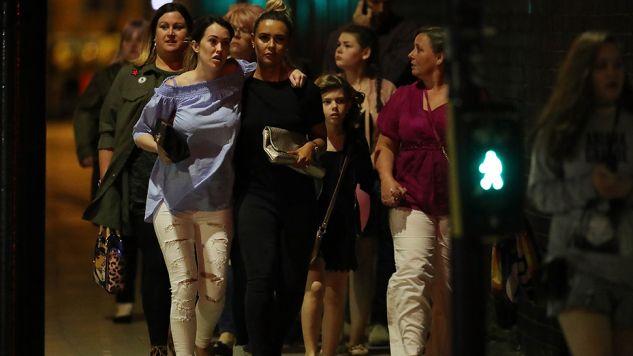 Wybuch nastąpił po zakończeniu koncertu Ariany Grande (fot. Christopher Furlong/Getty Images)
