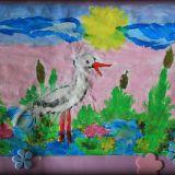 Natasza Orczykowska, 4 lata, stworzyła portrety: Bociana