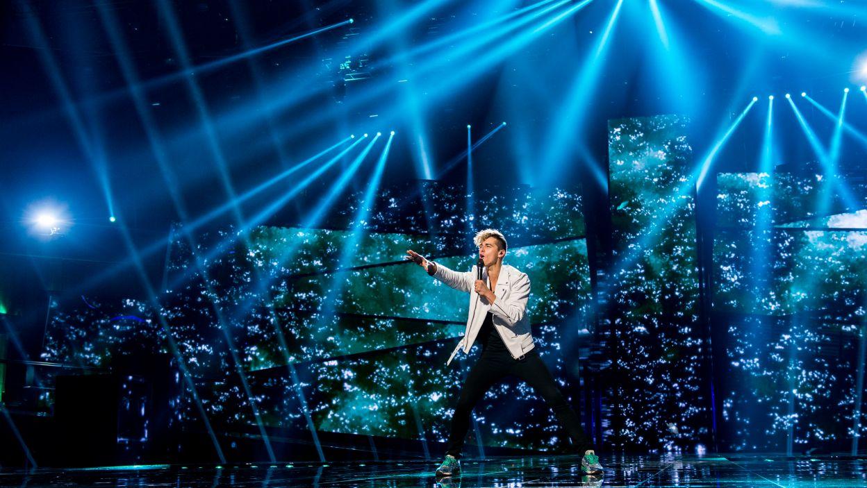 To jego drugi udział w Konkursie Eurowizji. Tym razem Donny Montell z Litwy uplasował się na 9. pozycji (fot. Anna Velikova)