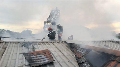 Pożar przy ulicy Kolejowej w Mońkach
