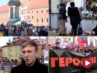 """150 czarnych balonów wzbiło się w Warszawie.  Na znak pamięci o Niemcowie i """"wszystkich ofiarach reżimu Putina"""""""