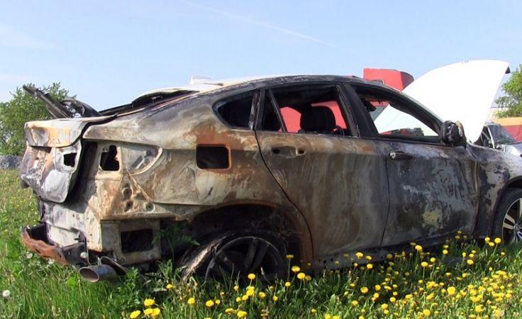Spalone BMW (fot. CBŚP)