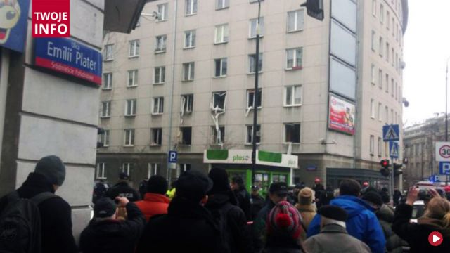 Wybuch gazu w centrum Warszawy. Z budynku wyleciały szyby. Są ranni