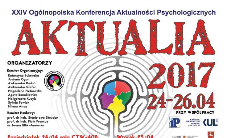 Aktualia 2017 (plakat organizatora)