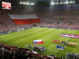 Trybuny tuż przed meczem (fot. Getty Images)