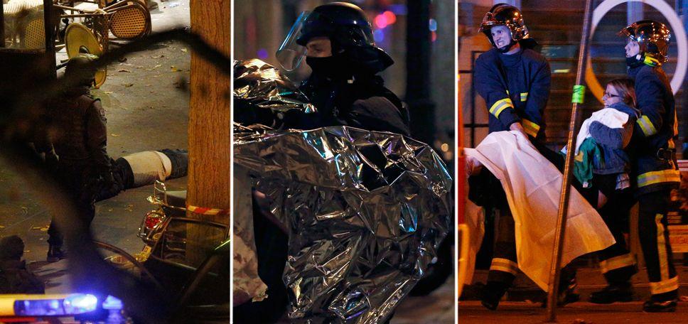 Policja przeprowadziła szturm na teatr Bataclan, gdzie napastnicy przetrzymywali kilkudziesięciu zakładników (fot.   PAP/EPA/YOAN VALAT)