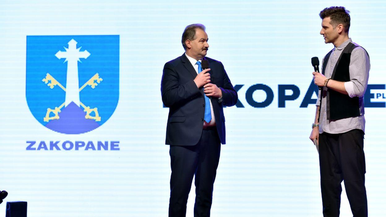 Tomasz Kammel i burmistrz Zakopanego Leszek Dorula  (fot. Ireneusz Sobieszczuk)
