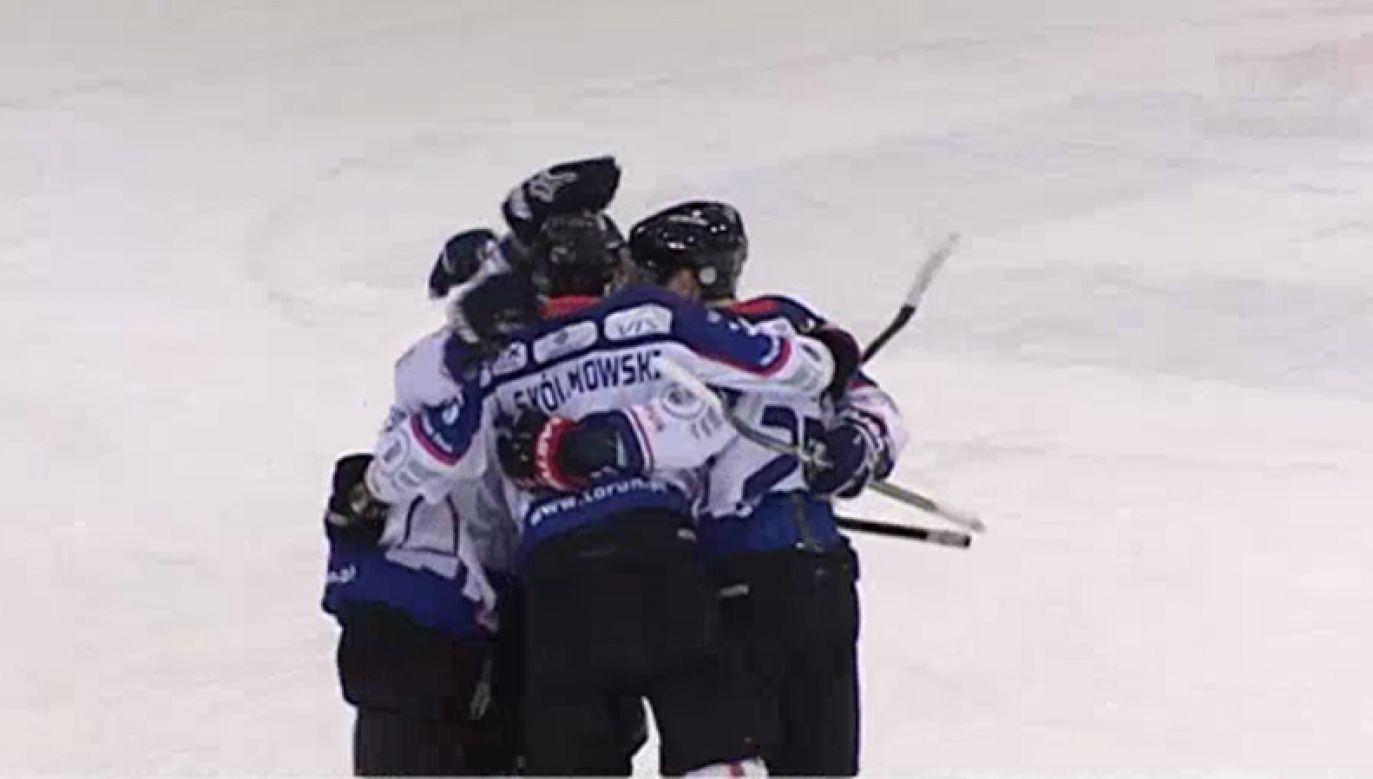 Wygrana zapewniła  Nesty Mires awans do Polskiej Hokej Ligi (fot.TVP Info)