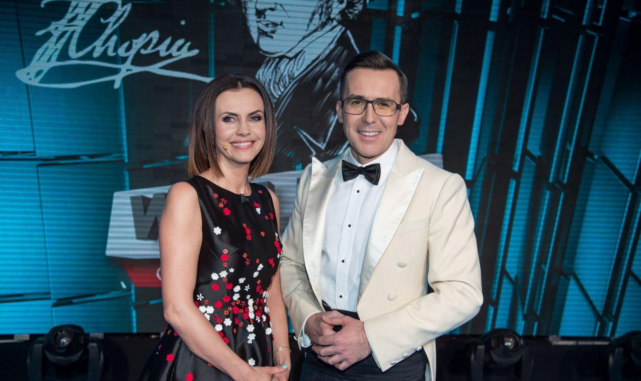 A w testowaniu uczestników partnerowała mu Sylwia Dekiert (fot.  J. Bogacz/TVP)