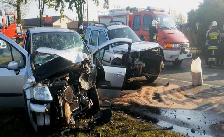 Pijany sołtys spowodował wypadek. 42-latka jest ciężko ranna