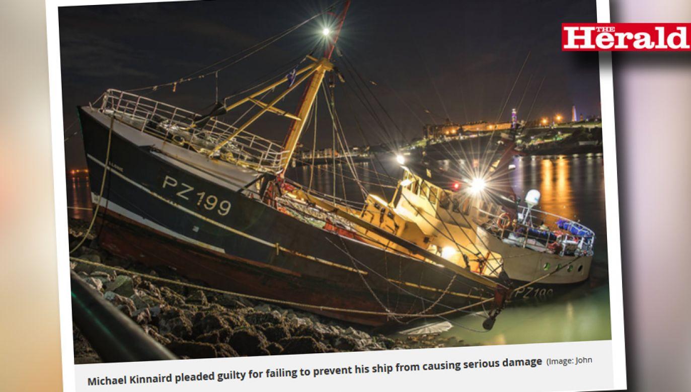 Po incydencie kuter wymagał kosztownego remontu (fot. Plymouthherald.co.uk)