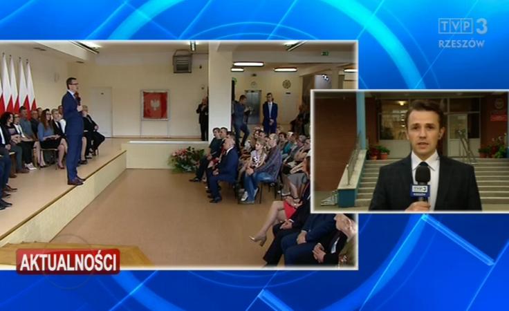Premier Morawiecki w Brzózie Królewskiej i Nowej Sarzynie