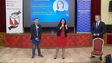 Spotkanie z Kamilą Gasiuk-Pihowicz zorganizowało koło Nowoczesnej w Ostródzie