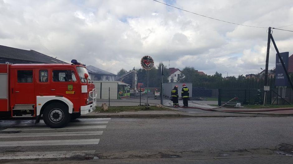 Pożar wybuchł w czwartkowy poranek (fot. Agata Chyłka)