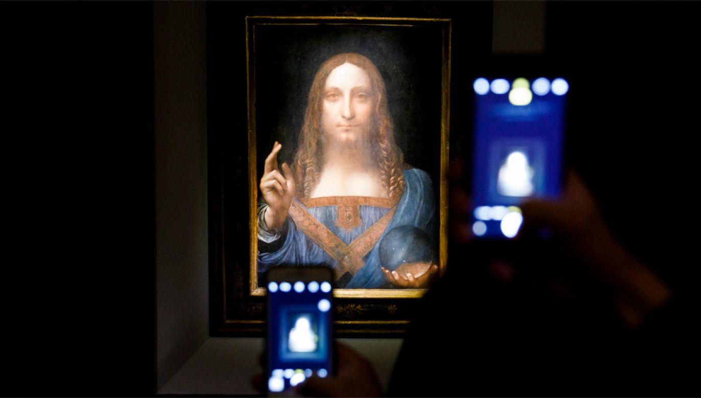 """""""Salvator Mundi"""" osiągnął cenę ponad 6 razy wyższą niż wywoławcza (fot. PAP/EPA/JUSTIN LANE)"""
