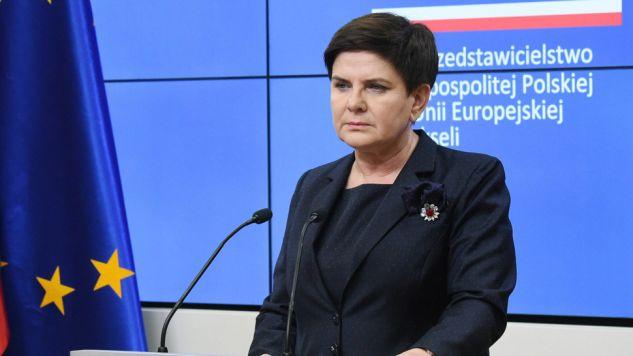Premier Beata Szydło reprezentuje Polskę na szczycie w Brukseli (fot. PAP/Radek Pietruszka)