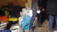 W laboratorium zabezpieczono prawie 200 litrów różnego rodzaju substancji chemicznych