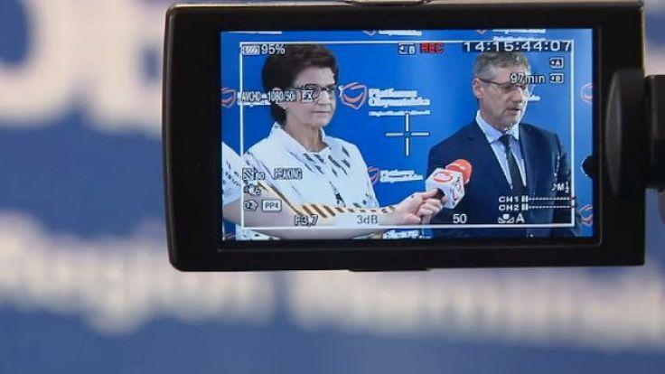 Z dziennikarzami spotkali się posłowie Anna Wasilewska i Janusz Cichoń