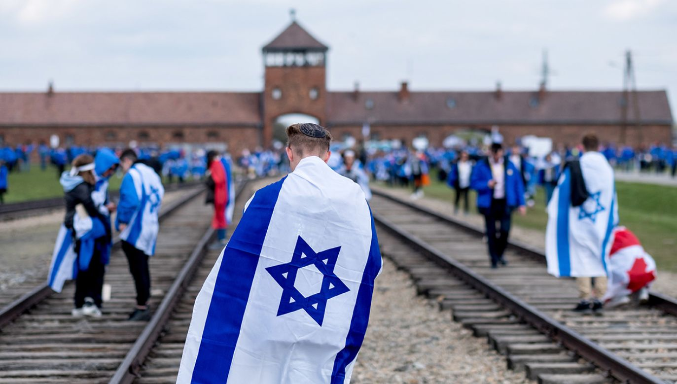 Uczestnicy 26. Marszu Żywych  (fot. arch. PAP/Andrzej Grygiel)