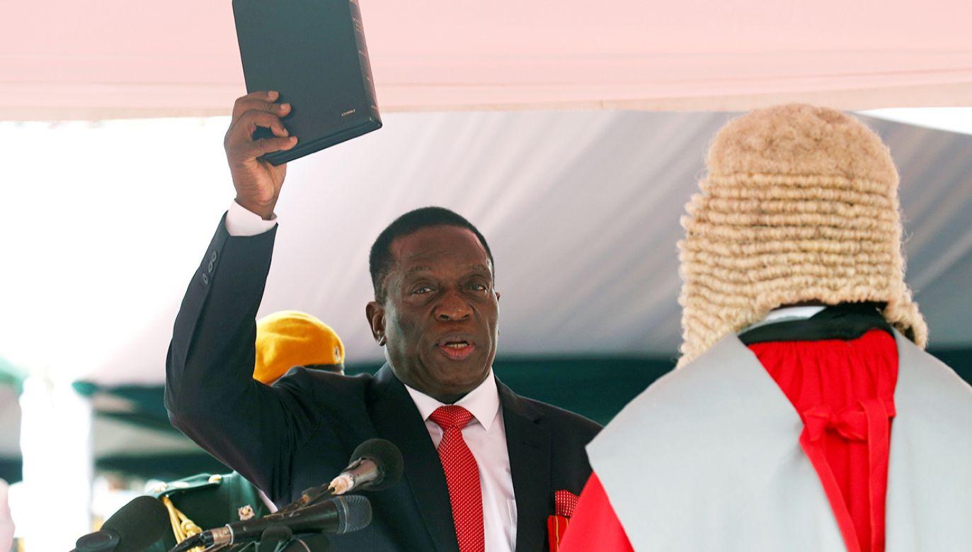 Emmerson Mnangagwa był poprzednio wiceprezydentem Zimbabwe (fot. REUTERS/Mike Hutchings)