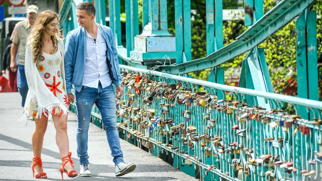 Małgosia i Paweł odwiedzili most dla zakochanych w Opolu (fot. P. Rewucki)