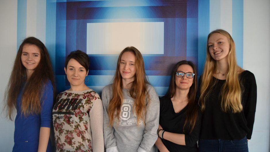 Warsztaty dziennikarskie w TVP3 Kraków uczniów  klasy III h VIII LO im. St. Wyspiańskiego w Krakowie