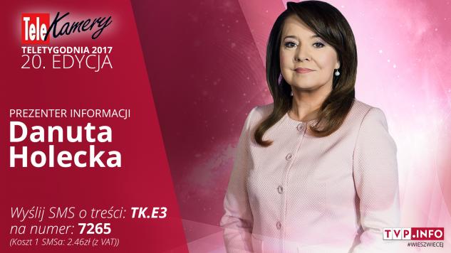 """Danuta Holecka została nominowana w kategorii """"prezenter informacji"""" (graf. tvp.info)"""