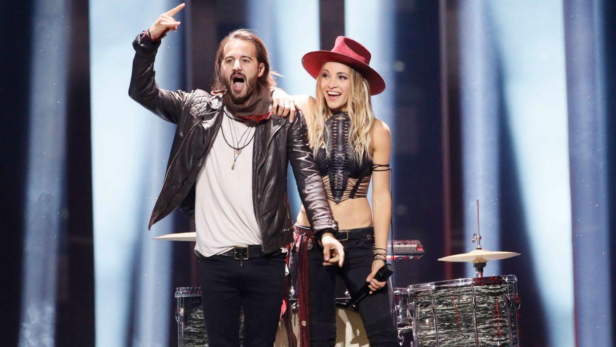 Szwajcarski duet ZiBBZ rozpalił publiczność rockowa energią, jednak przepadł w SMS-owym głosowaniu (fot. A. Putting/EBU)