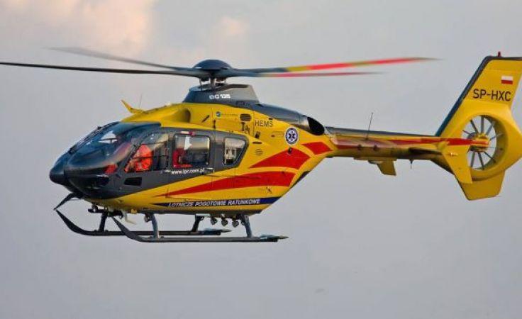 Chłopiec został zabrany przez śmigłowcen do szpitala we Wrocławiu (fot. FB/LPR)