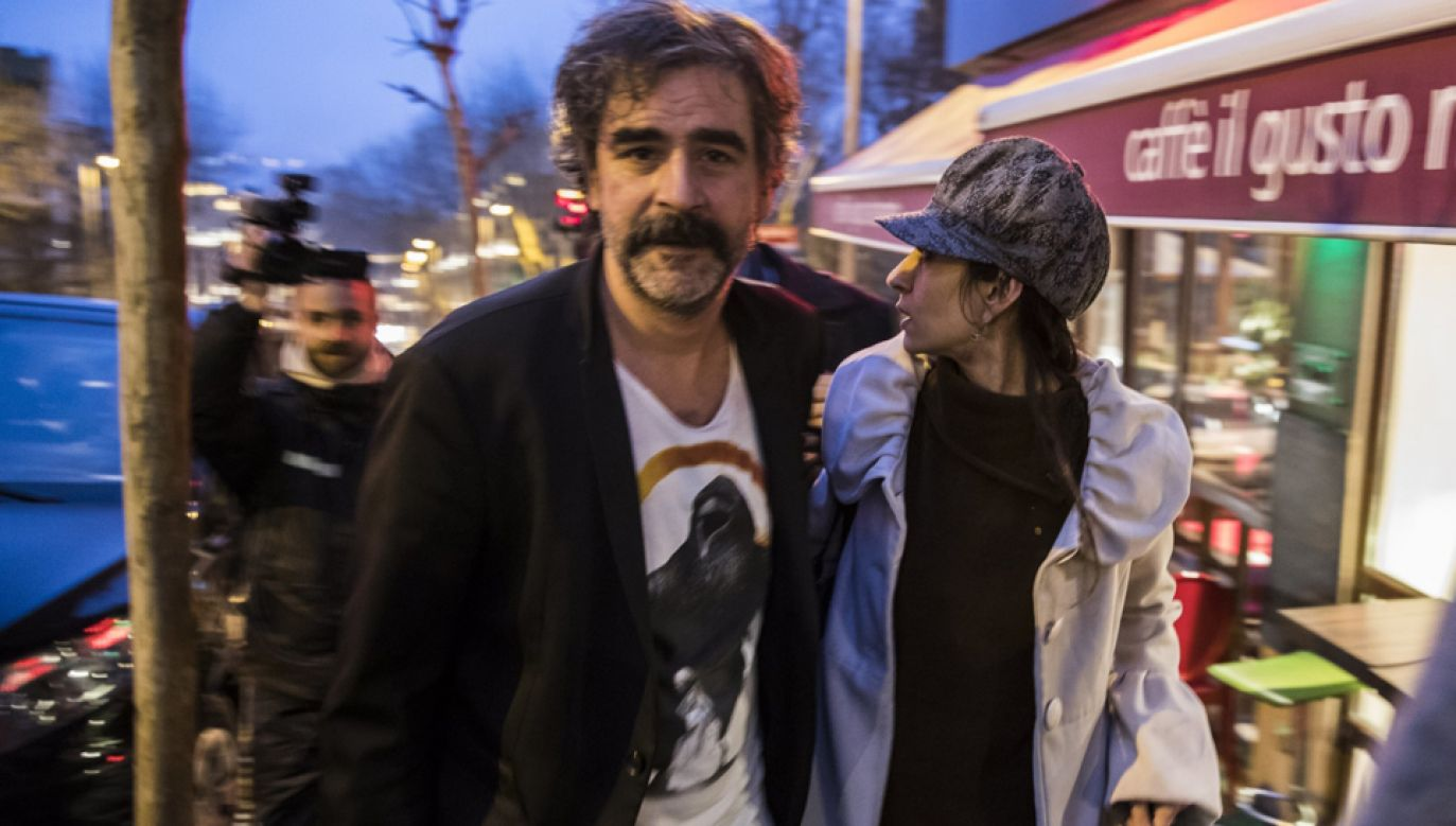 Deniz Yucel z żoną (fot. PAP/EPA/CAN EROK / DOGAN NEWS AGENCY)