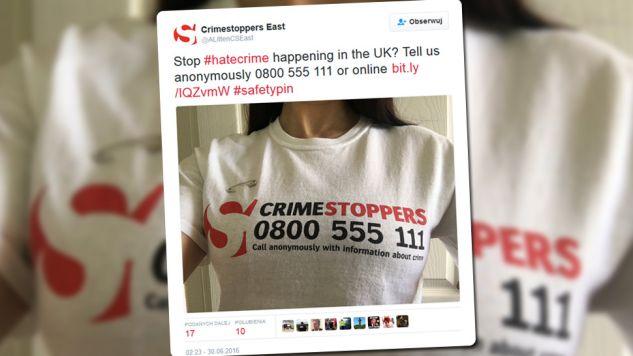 Brytyjczycy jednoczą się w sieci w sprzeciwie wobec #hatecrime (fot. Twitter)
