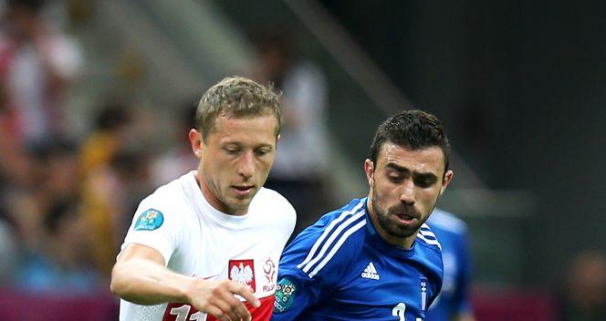 Rafał Murawski i Giannis Maniatis (fot. Getty Images)