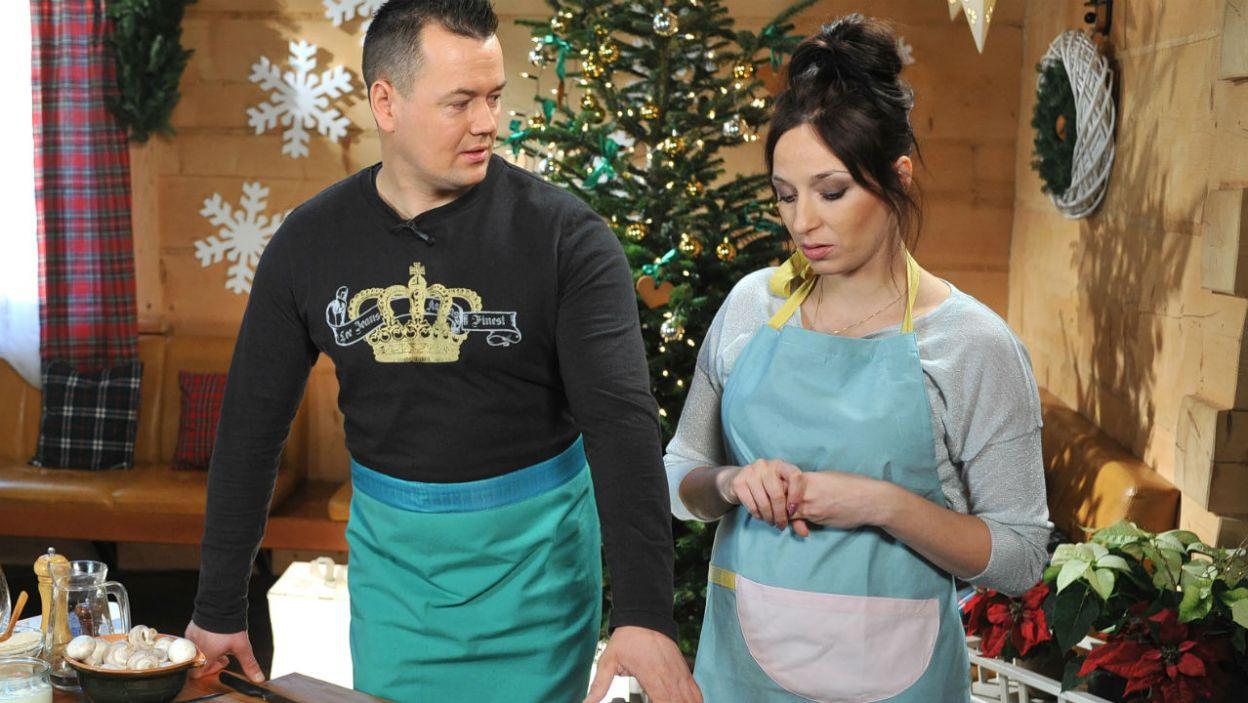 Sos pieczarkowy i klopsiki – takie danie przygotują Kasia i Piotr  (fot. TVP)
