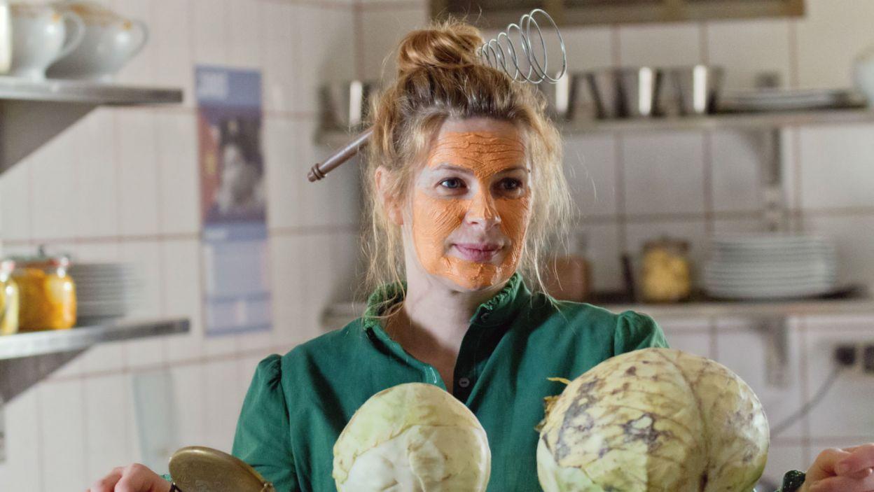 W roli Gerdy – gospodyni pensjonatu, wystąpiła Agnieszka Warchulska (fot. Mirosława Łukaszek)