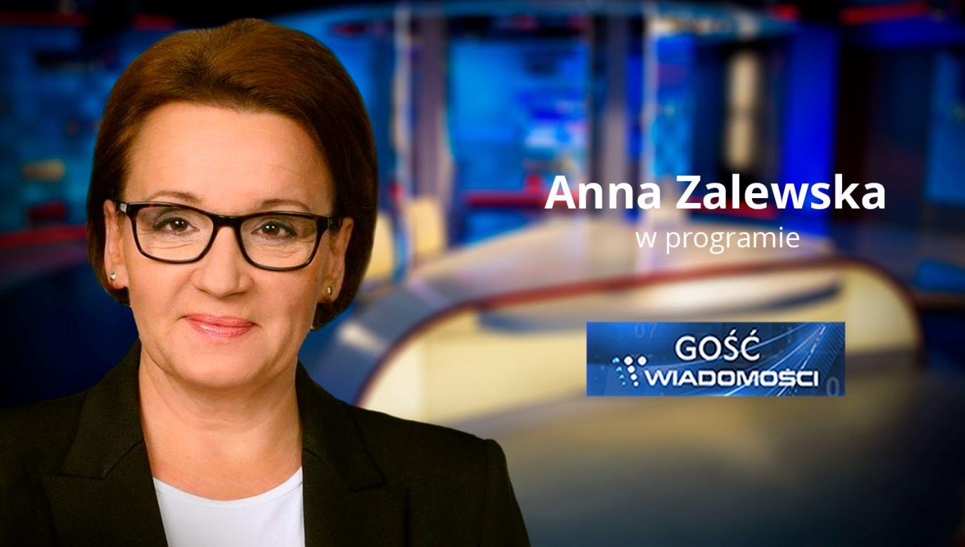 Minister edukacji narodowej Anna Zalewska (fot. TVP Info)