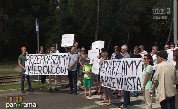 Mieszkańcy w proteście blokują Brzeźno