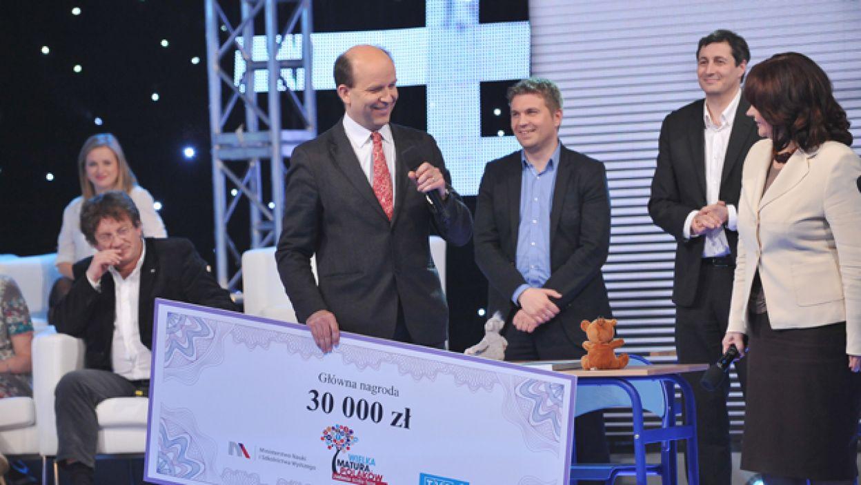Dr przekazał wygraną kwotę na Fundację Świętego Jana Jerozolimskiego w Warszawie (fot. I. Sobieszczuk/TVP)