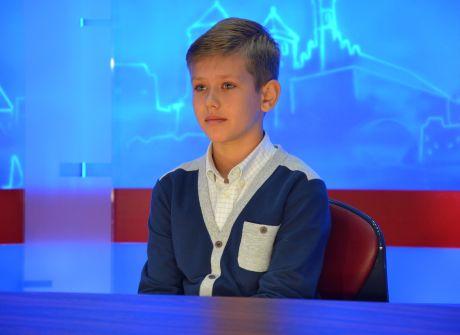 Wizyta Macieja Krysiaka, laureata konkursu namaluj 10-lecie TVP Olsztyn