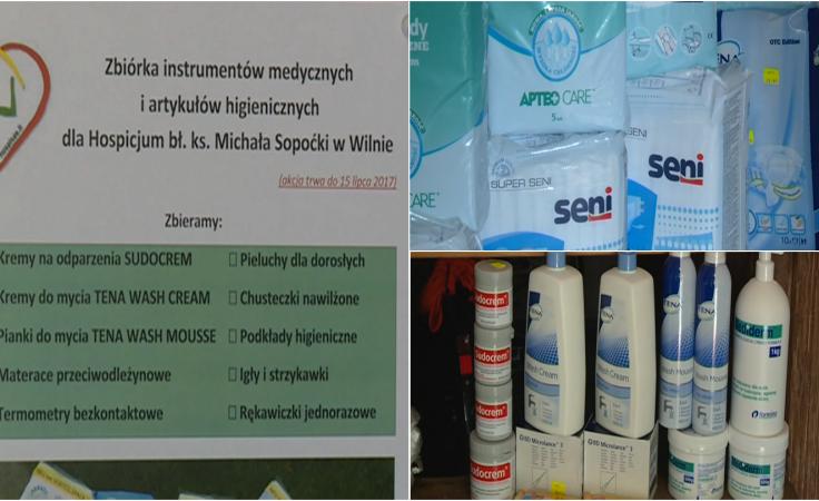 Trwa zbiórka artykułów higienicznych. Trafią do hospicjum w Wilnie