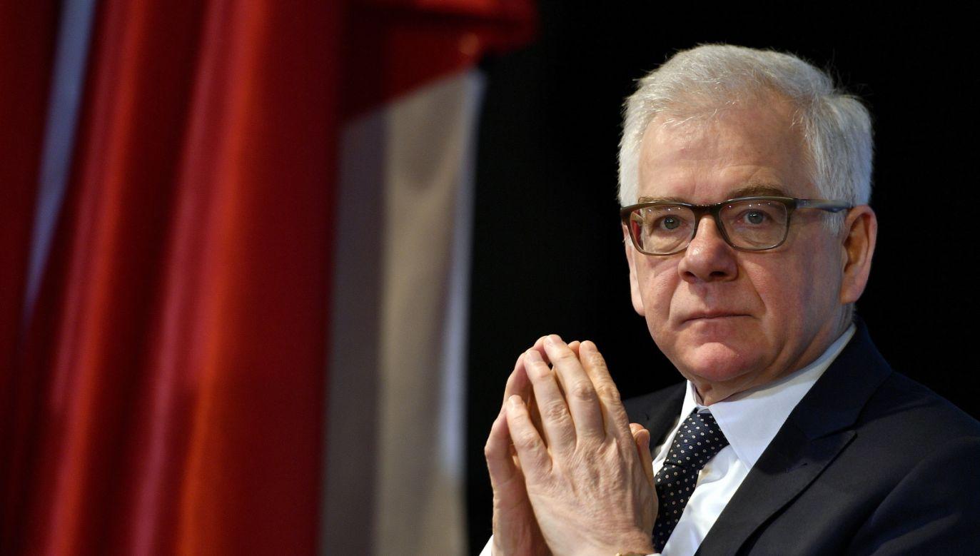 Szef MSZ odniósł się do słów Premiera RP (fot. PAP/Darek Delmanowicz)