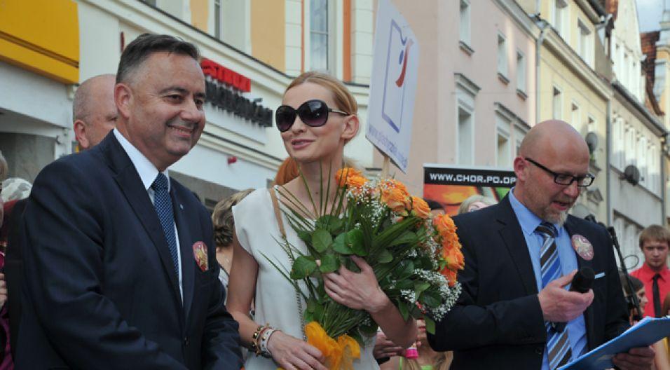 Uroczystego odsłonięcia gwiazdy dokonał prezydent Opola (fot. I. Sobieszczuk/TVP)