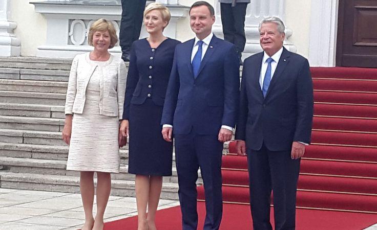TVP Szczecin podczas wizyty prezydenta w Niemczech