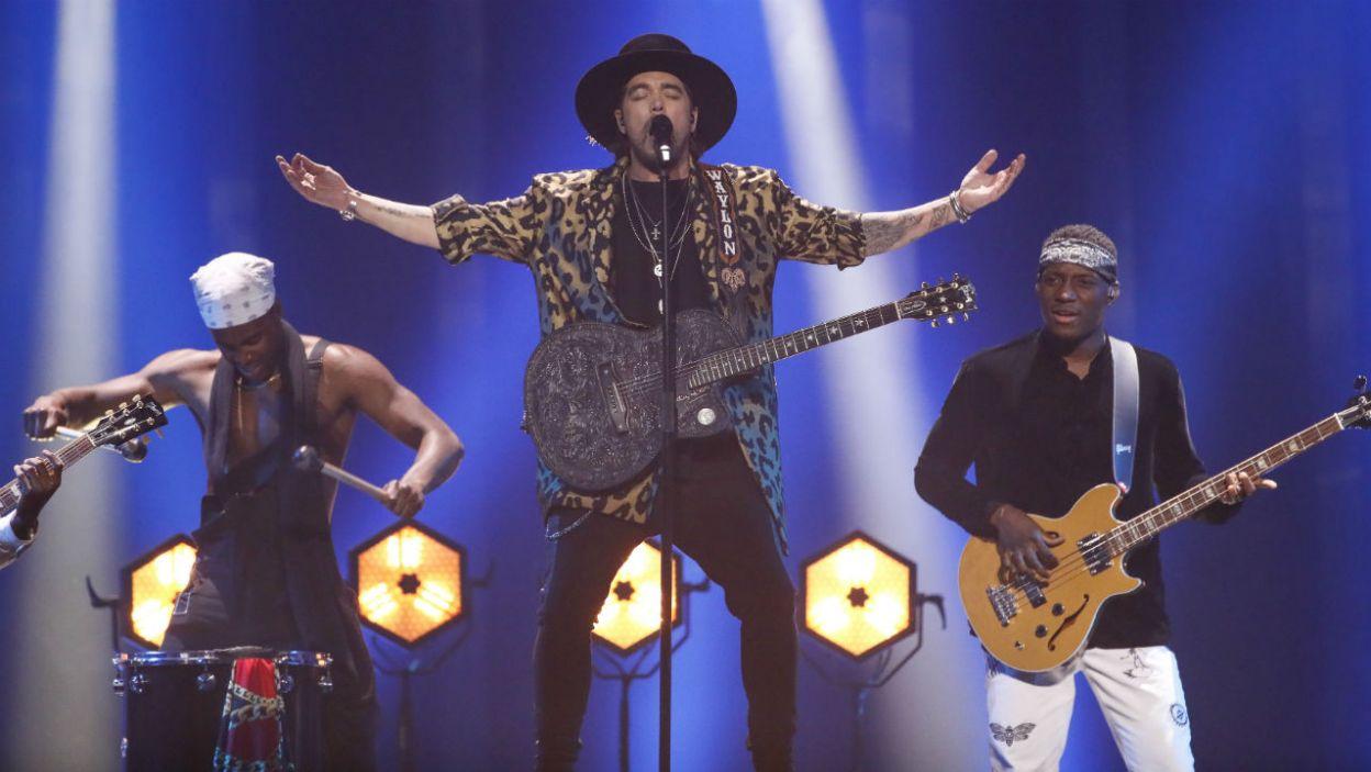 """Muzyka country i Holandia? Czemu nie! Waylon utworem """"Outlaw In 'Em"""" udowodnił, że dziki zachód trzeba mieć w sercu (for. Andreas Putting/eurovision.pl)"""
