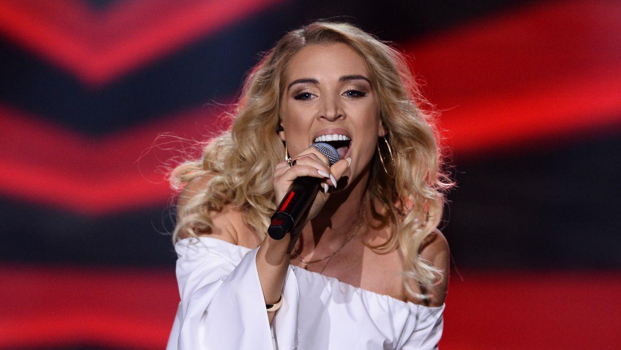 """Aneta Sablik zyskała rozgłos zwyciężając w niemieckim programie """"Deutschland sucht den Superstar"""". Podczas eliminacji do Eurowizji wykonała piosenkę """"Ulalala"""" (fot. Jan Bogacz/TVP)"""